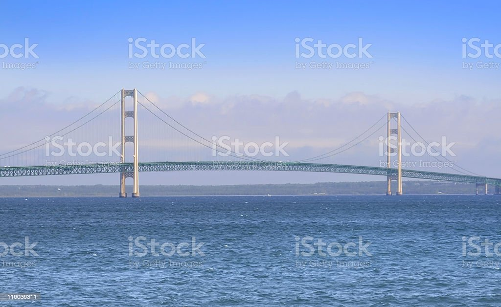 The Mackinac bridge in Michigan stock photo