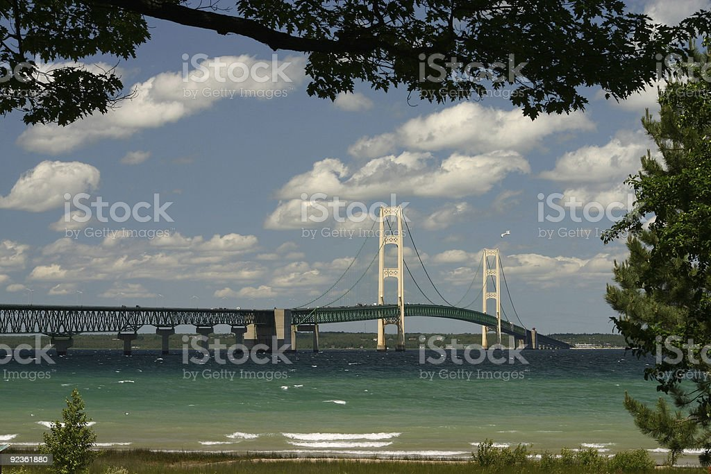The Mackinaw Bridge stock photo