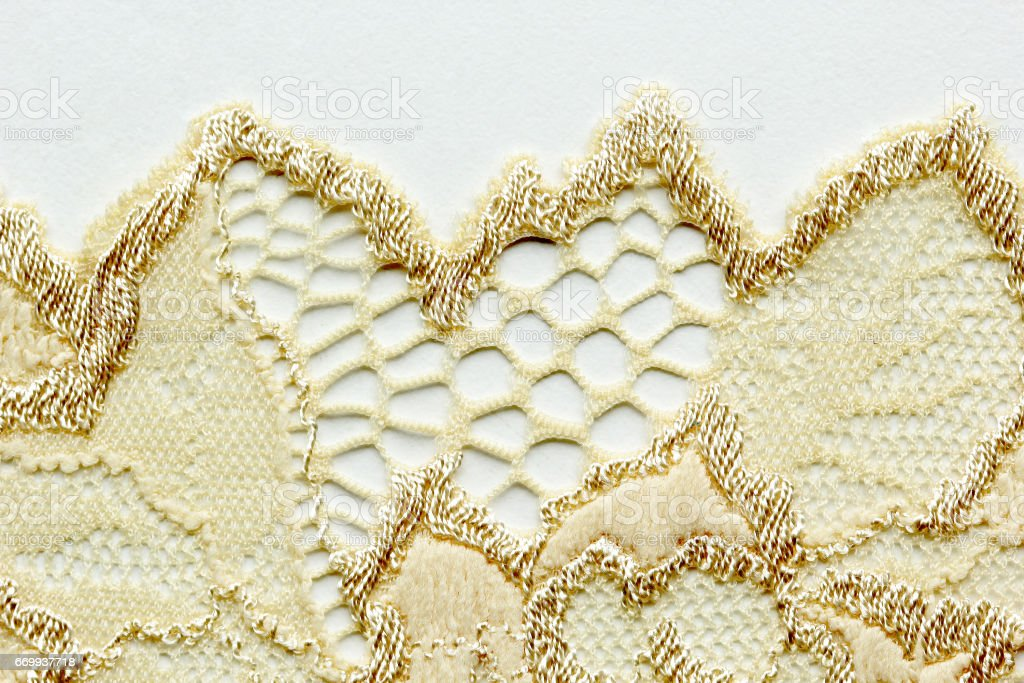 the macro shot of lace material texture stock photo