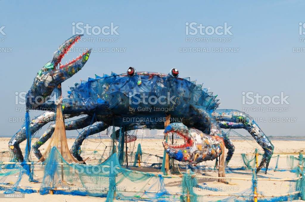 The Mad Crab of Kochi stock photo