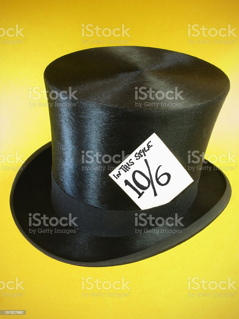 The Mad Hatter's hat. stock photo