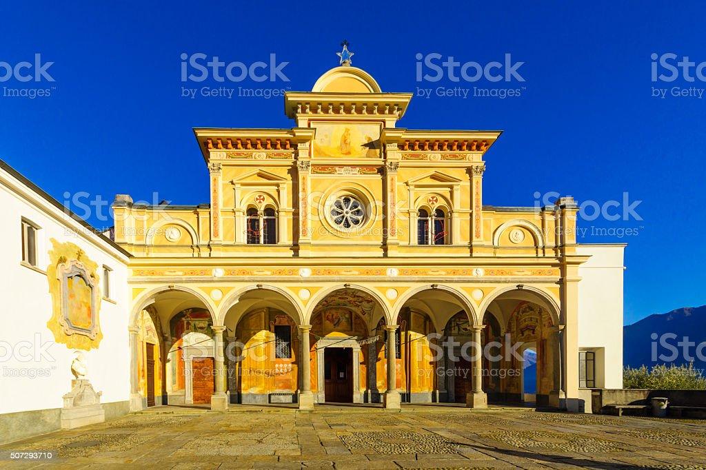The Madonna del Sasso church, Locarno stock photo