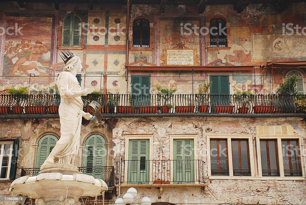The Madonna Verona, Piazza Delle Erbe stock photo