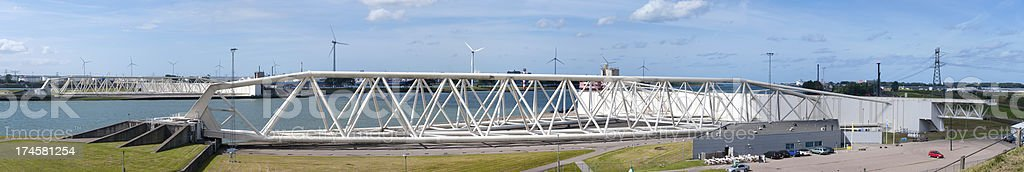 The Maeslant storm surge barrier royalty-free stock photo