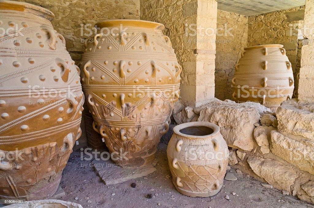 The Magazine in Knossos palace, island of Crete stock photo
