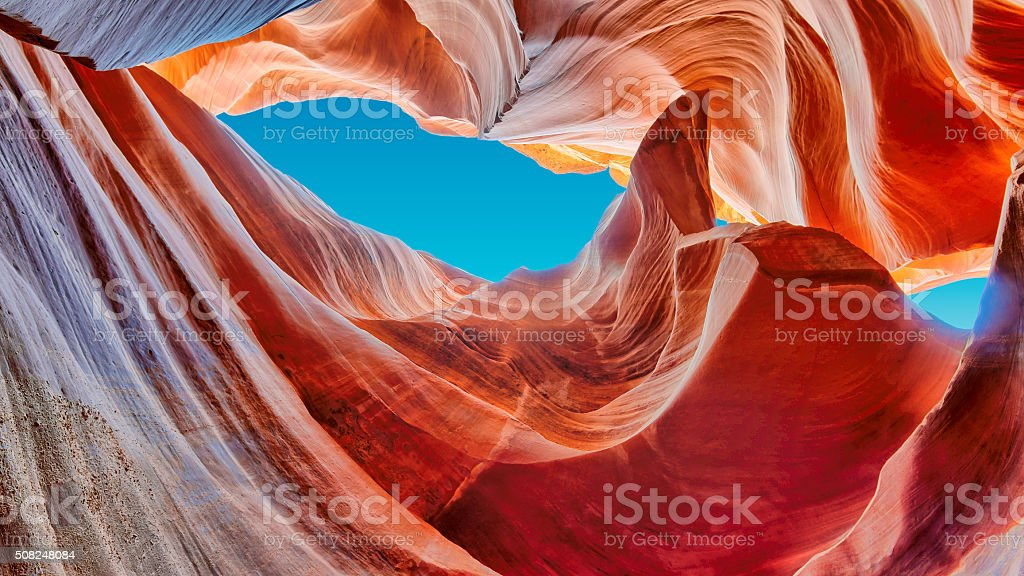 The Magic Antelope Canyon in the United States. stock photo