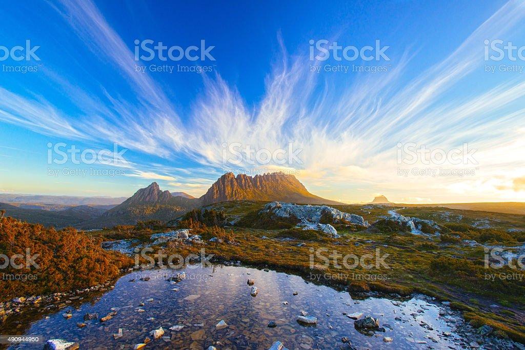 The Magic Cradle Mountain stock photo