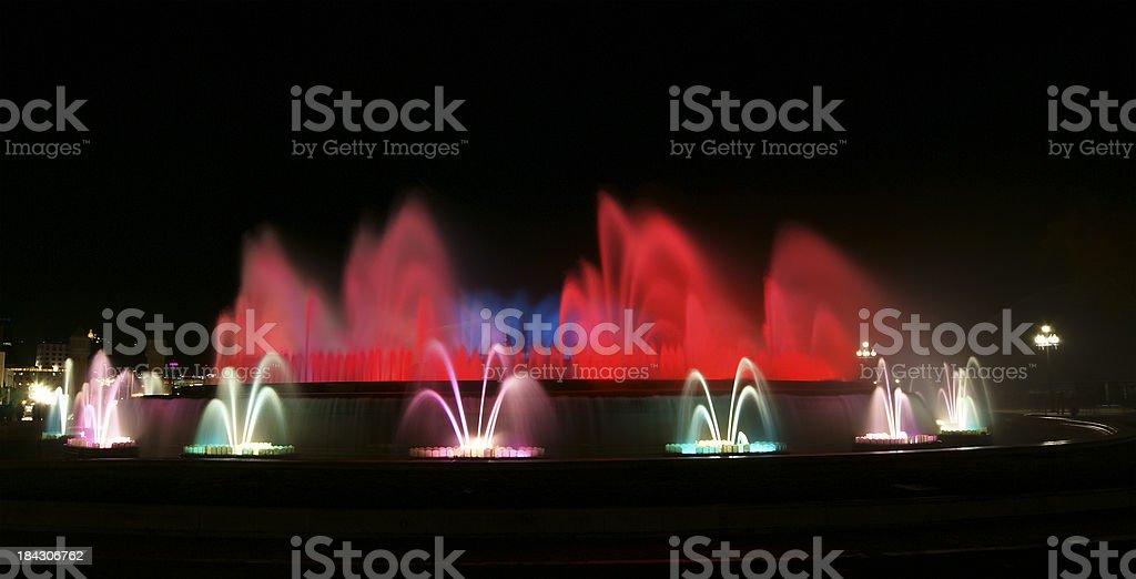 The Magic Fountain, Montjuic, Barcelona, Spain. stock photo