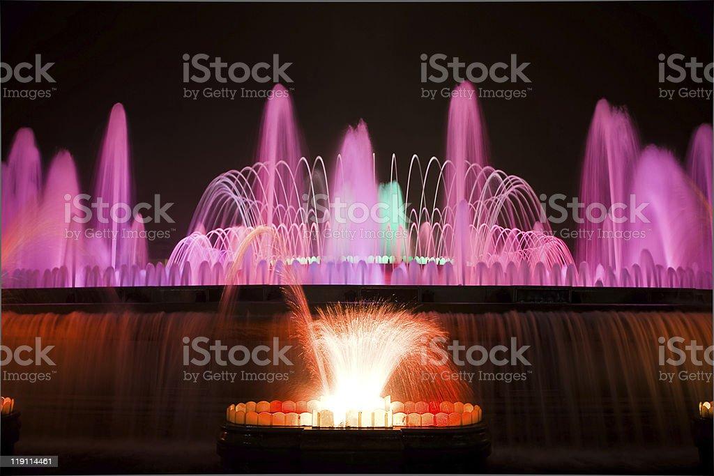 The Magic Fountain stock photo