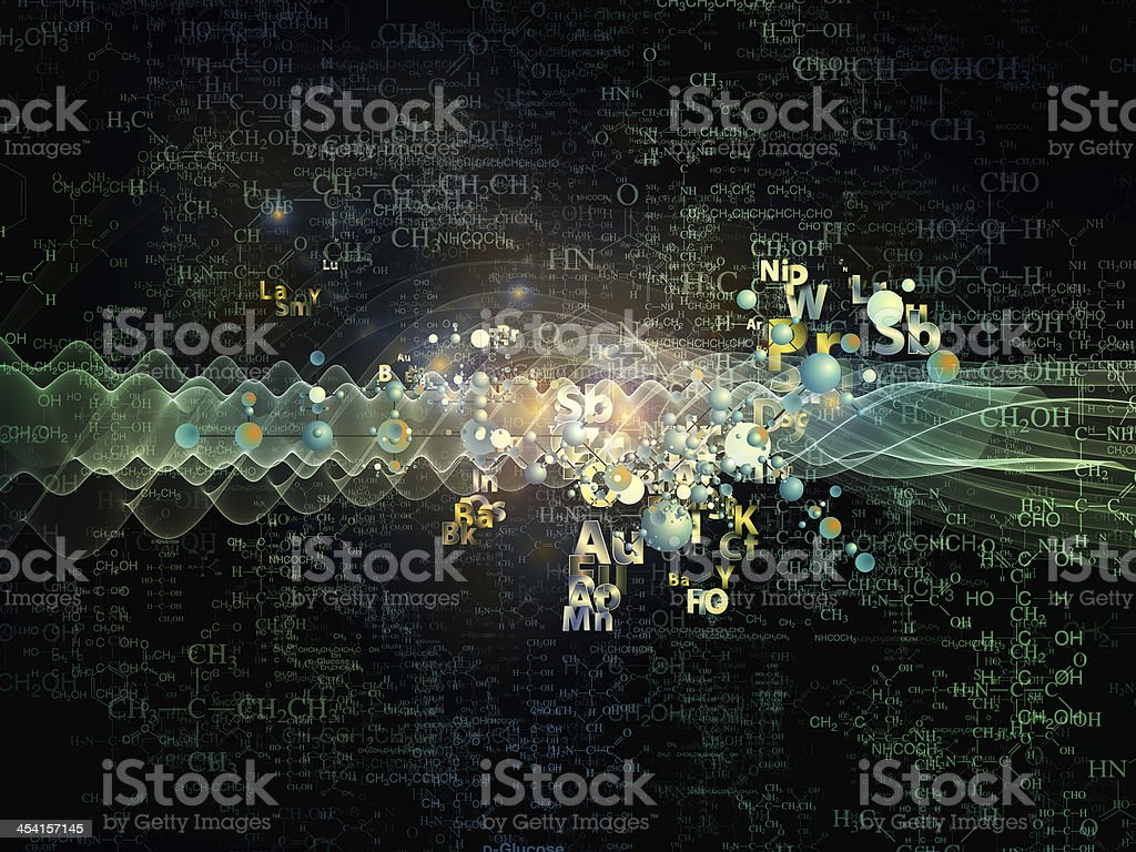 The magic of chemistry abstract art stock photo