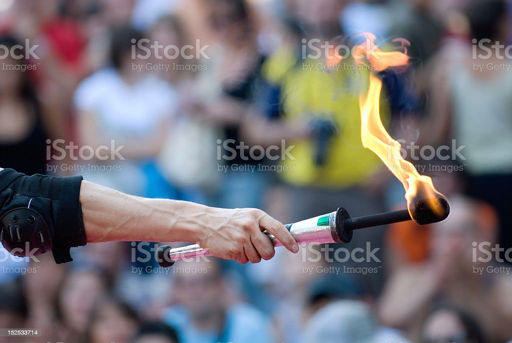 The magic of fire stock photo