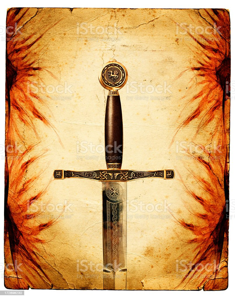The Magic Sword stock photo