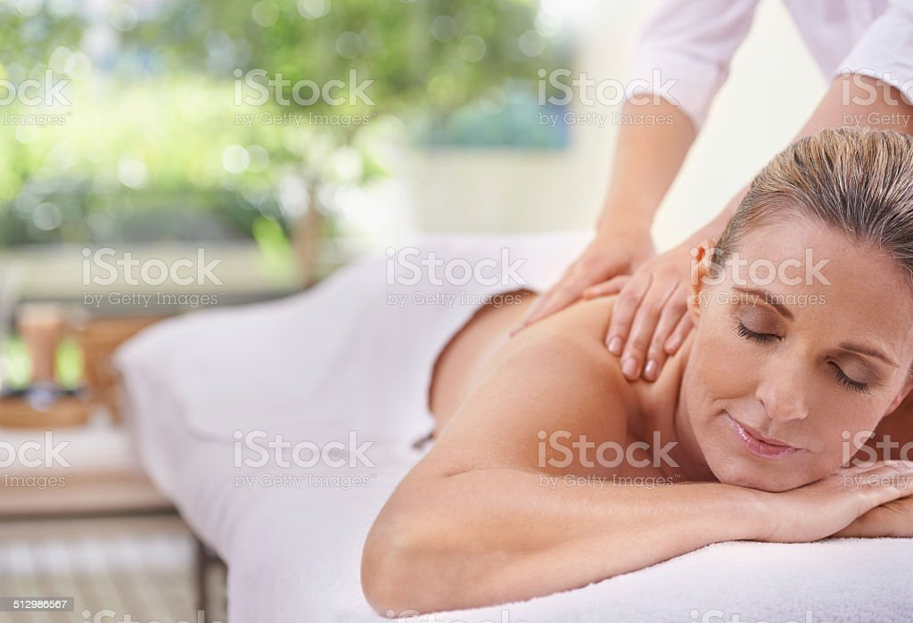 The magical hands of a masseuse stock photo