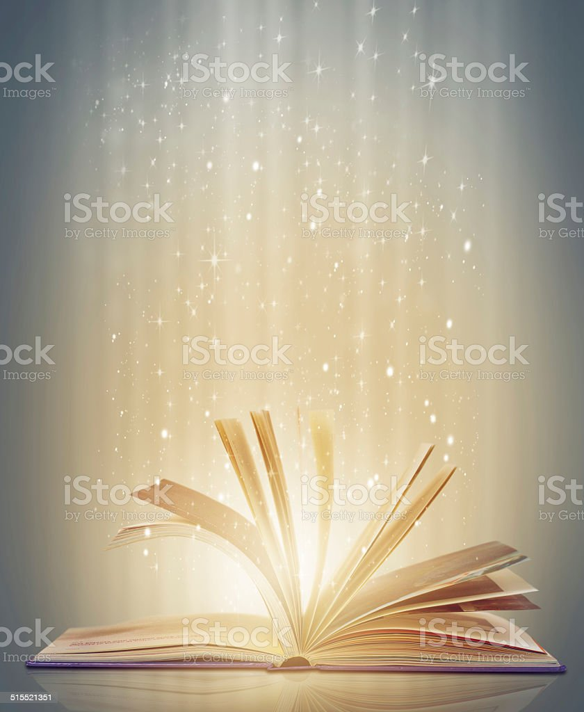 The magical world of imagination awaits stock photo