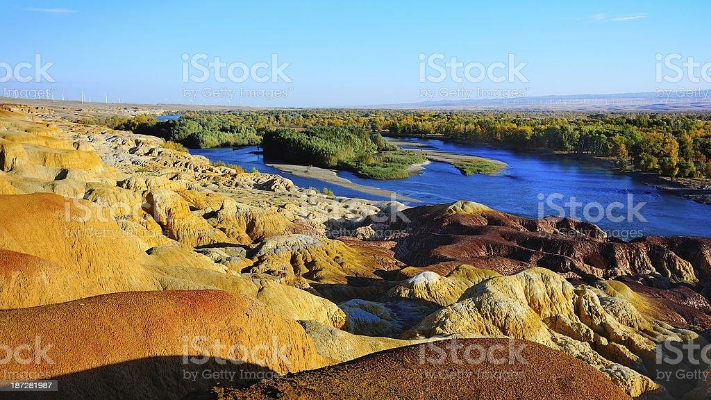 The magnificent Danxia landform 03 stock photo