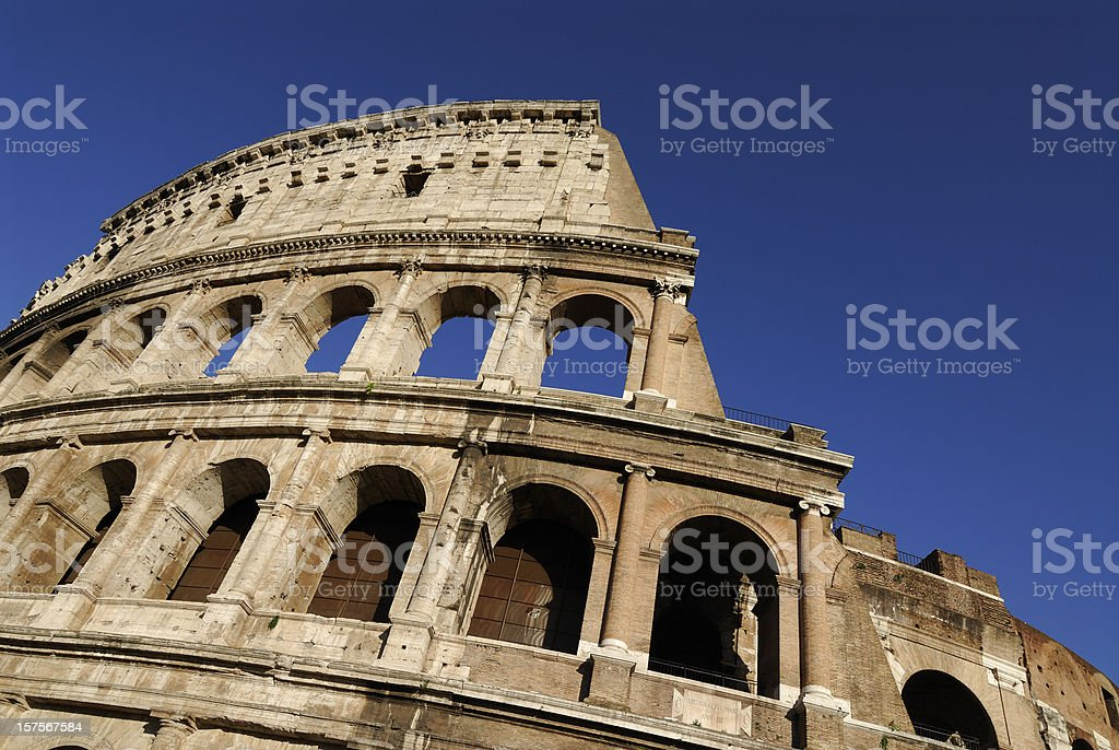 The magnificent Roman Colosseum royalty-free stock photo