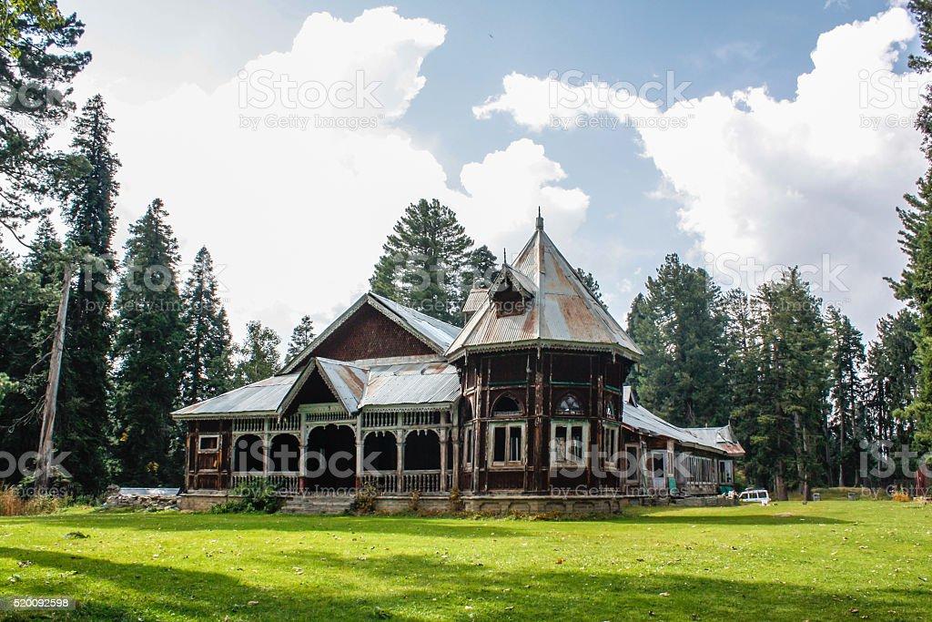 The Maharaja Palace, Gulmarg, Kashmir, India stock photo