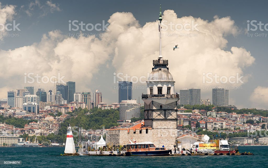 The Maiden Tower stock photo