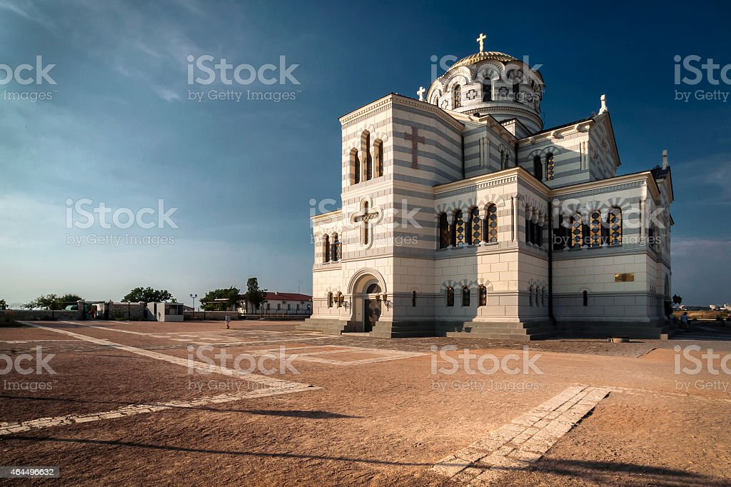 The main cathedral of Chersonesos in Crimea stock photo