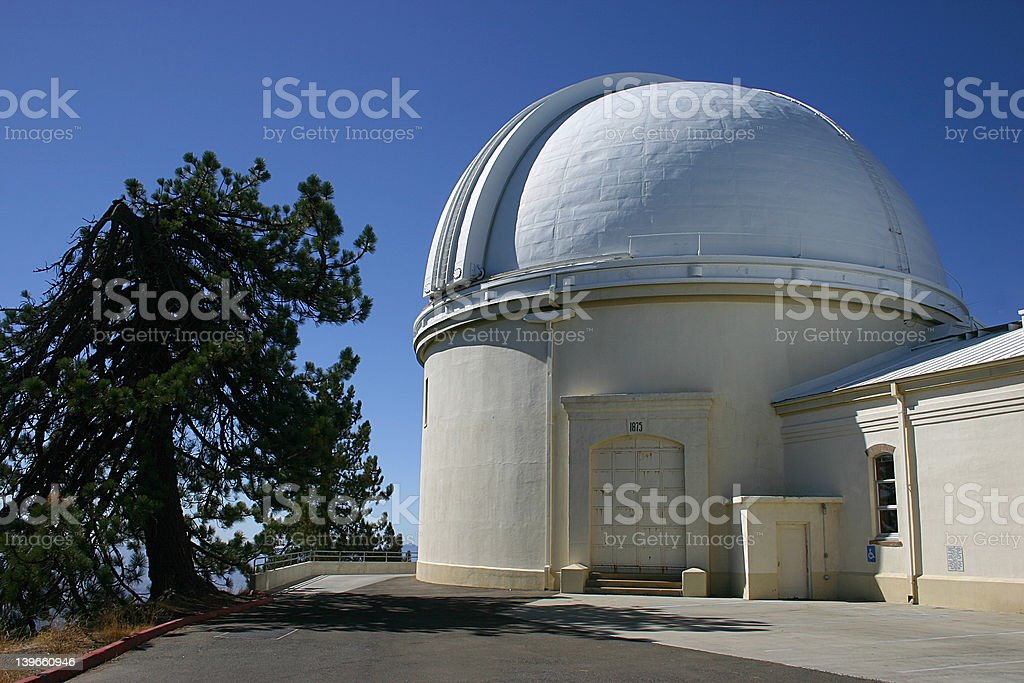 The main dome at Lick Observatory royalty-free stock photo