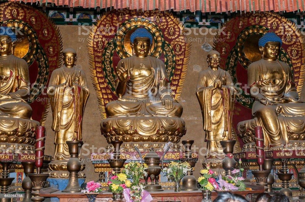 The main hall of Shaolin Temple - Hall of Mahavira. stock photo