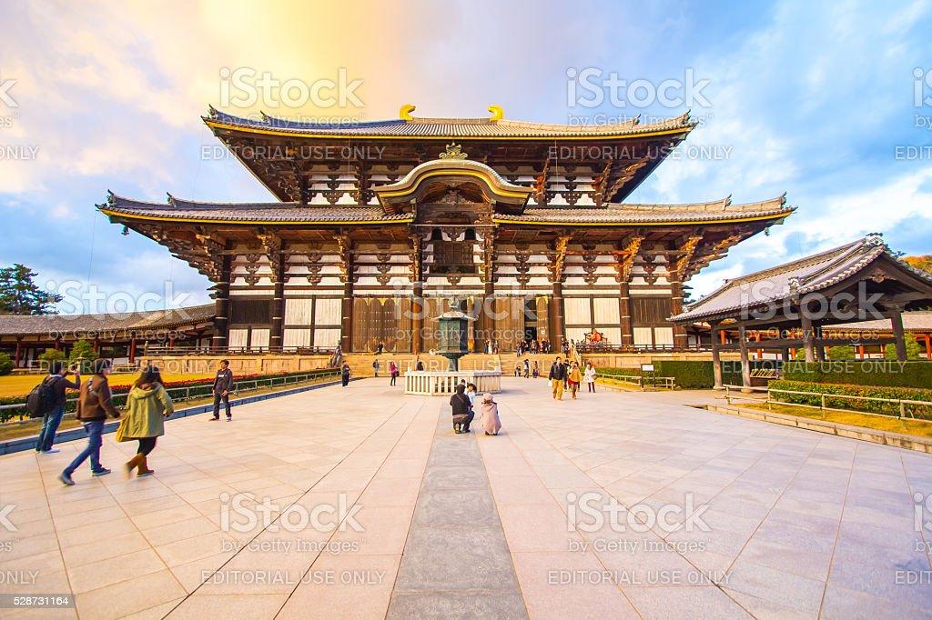 The Main Hall of Todai-ji Temple in Nara, Japan. stock photo