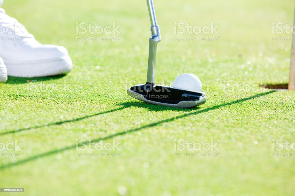 The main idea of the game of golf stock photo