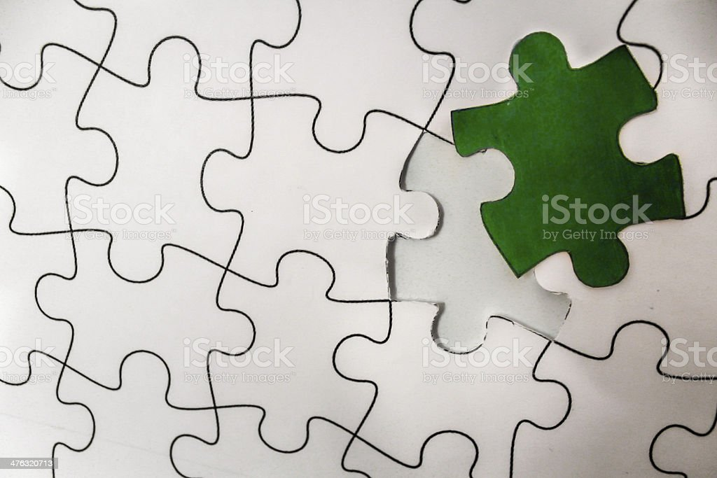 The Main Missing Piece royalty-free stock photo