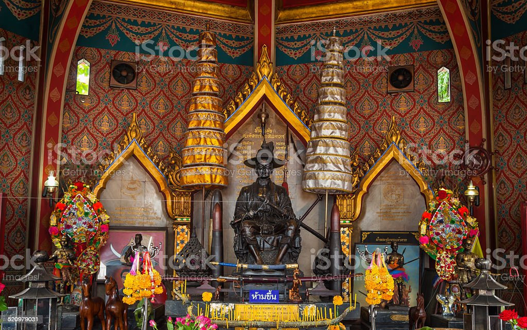 The main monument of King Taksin stock photo