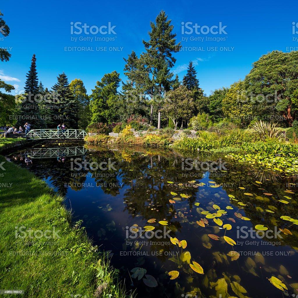 The main pond of The National Botanic Gardens in Dublin stock photo