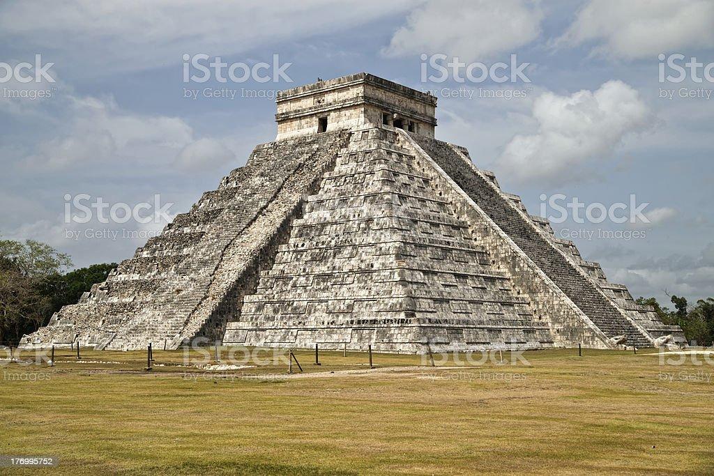 The main pyramid of Chichen Itza royalty-free stock photo