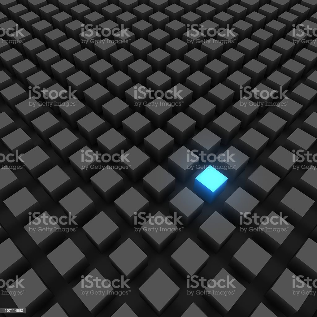 The Main Source - Blue Qube stock photo