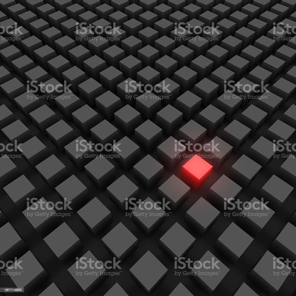 The Main Source - Red Cube stock photo