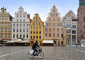 The main square of the historic center of Wroclaw.