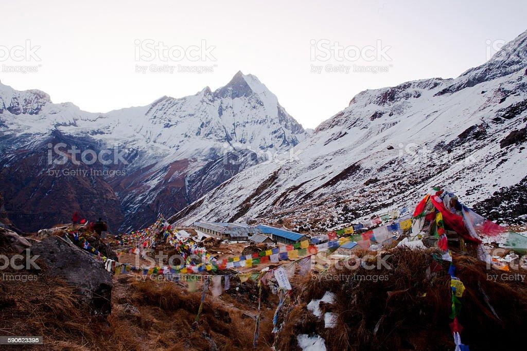 The majestic Annapurna range stock photo