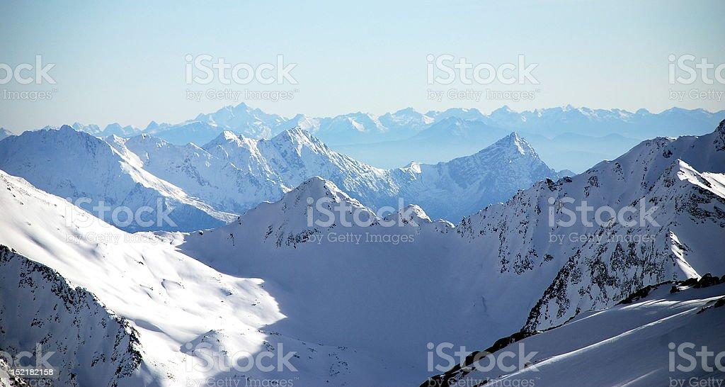 The majestic Austrian Alps royalty-free stock photo