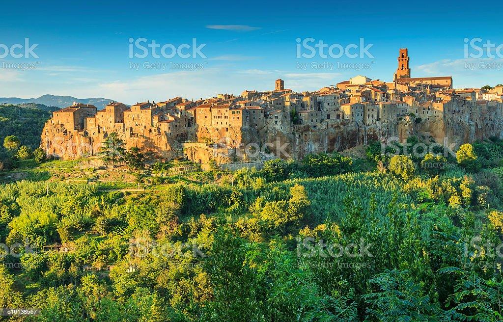 The majestic city on the rock,Pitigliano,Tuscany,Italy stock photo