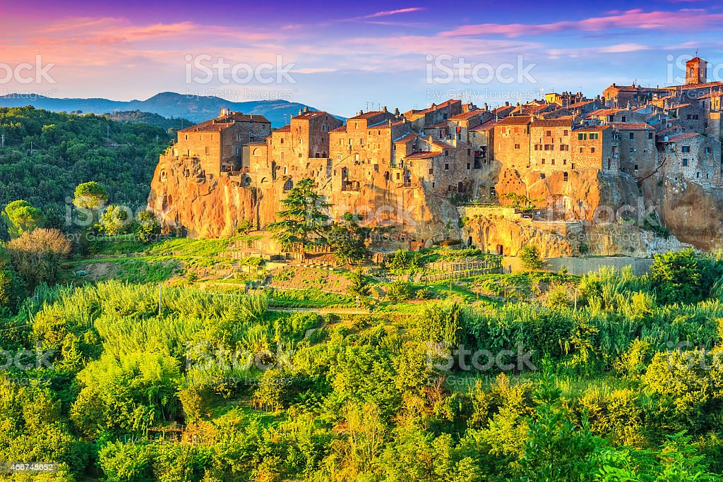 The majestic city on the rock,Pitigliano,Tuscany,Italy,Europe stock photo