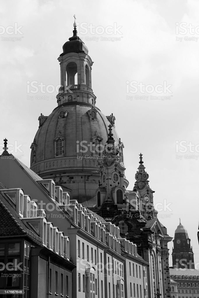 The majestic Frauenkirche royalty-free stock photo