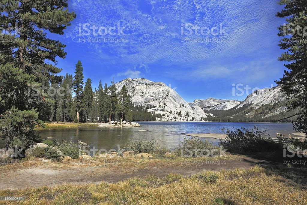 The majestic Lake  in a hollow among mountains royalty-free stock photo