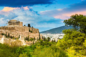 The Majestical acropolis in Athens, Greece