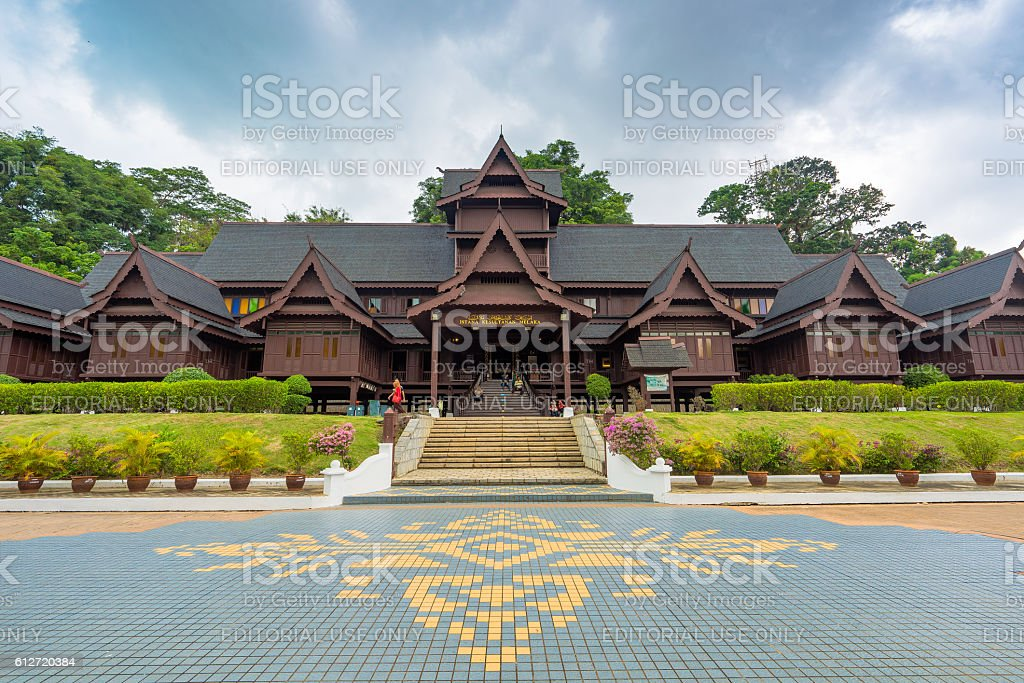 The Malacca Sultanate palace Museum stock photo