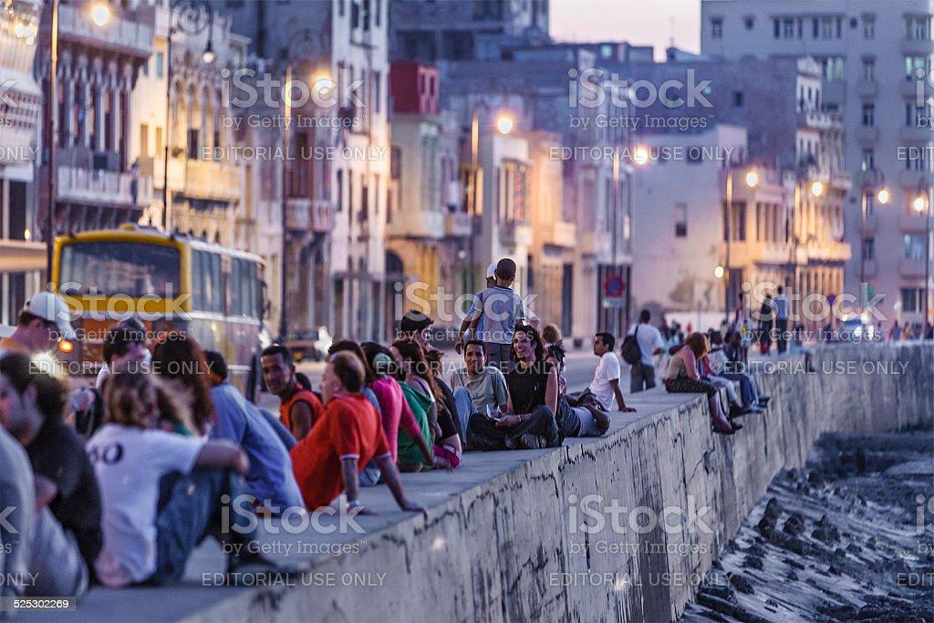 The Malecon, Havana, Cuba stock photo