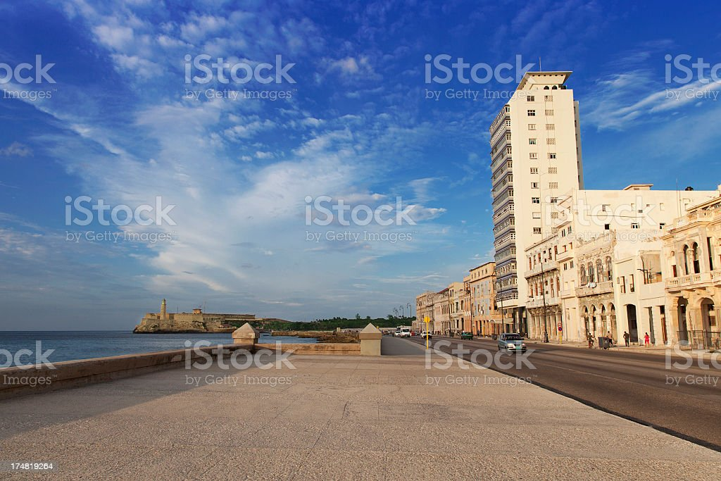 The Malecon in Old Habana royalty-free stock photo