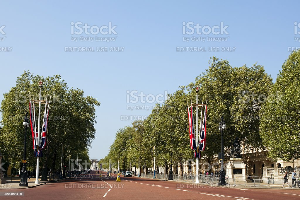 The Mall and Buckingham Palace stock photo