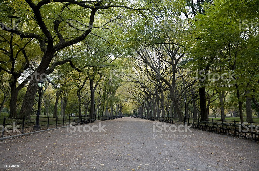 The Mall at Central Park in New York City stock photo