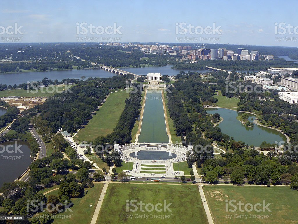 The Mall in Washington DC stock photo