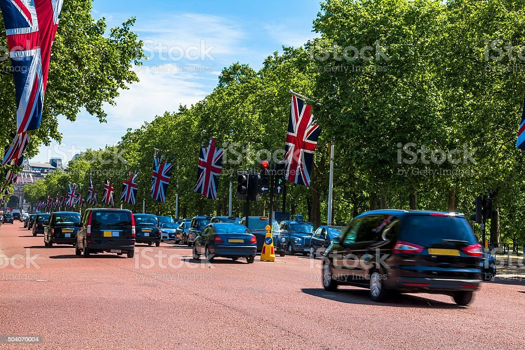 The Mall in Westminster City. London stock photo
