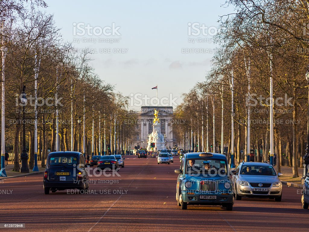 The Mall Road in London, United Kingdom stock photo