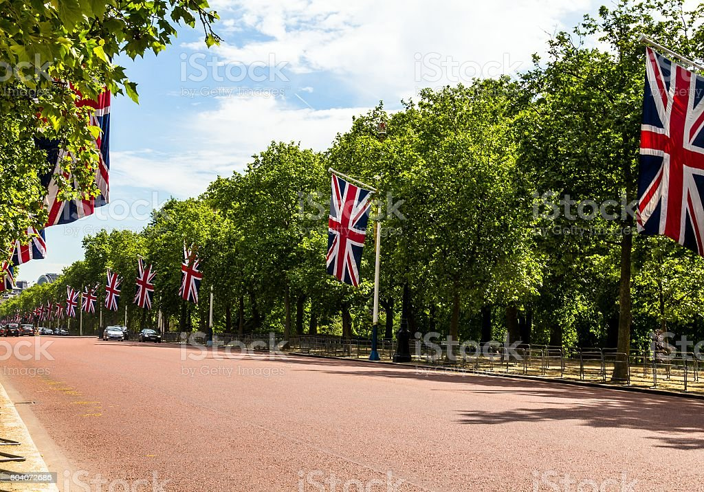 The Mall, street  in London stock photo